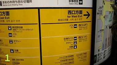 大宮駅改札出たら、西口方面へ